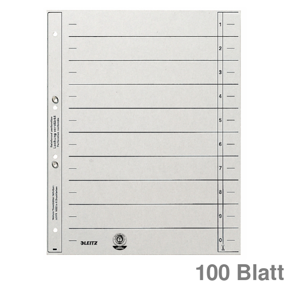 100 x Trennblätter A4 aus Karton chamois WOW